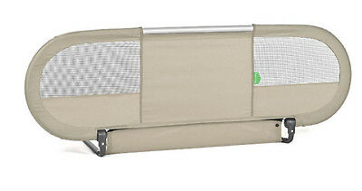 BabyHome - Side Baby Bed Rail Nursery Safety Rail Mesh w/ Straps - Sand