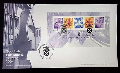 2004 Scottish Parliament m/s first day cover with Edinburgh special handstamp