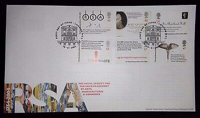 2004 R.S.A. first day cover with London WC2 special handstamp