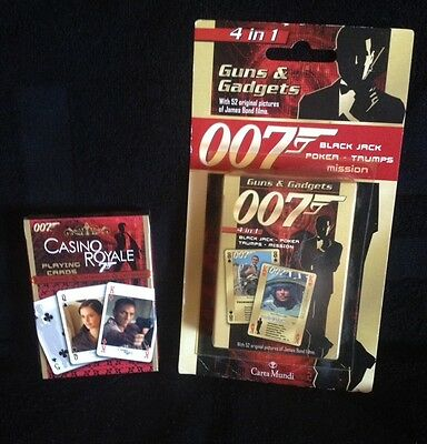 James Bond 007 Playing Cards 2 Packs