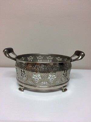 Vintage Royal Rochester Silver Plated Footed Dish Holder With Handle