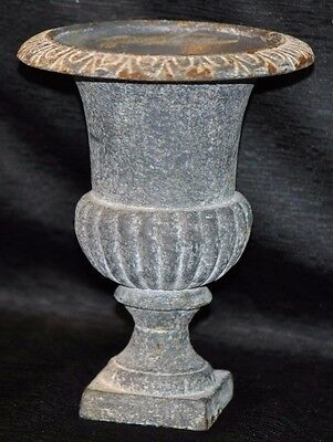 "Vintage CAST IRON 8""  Urn Planter Vase French Country Classical Victorian 4.3lbs"
