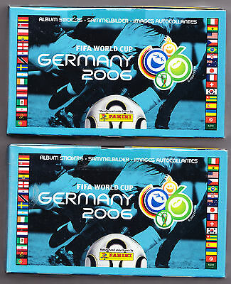 """2 x Panini World Cup 2006 Sealed Boxes of 100  Sticker Packets. """" Brand New"""""""