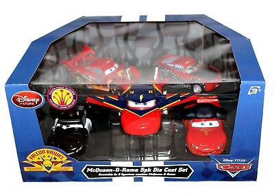 Lightning McQueen-O-Rama 5 Pack Diecast Set Disney Store Pixar Cars Falcon Hawk