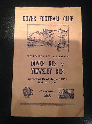 1959/0 Dover Reserves v Yiewsley