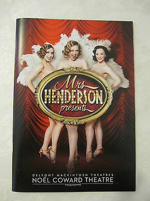 London Theatre Programme for Mrs Henderson Presents