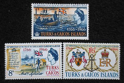 Turks & Caicos Islands - 1966 - Ties with Great Britain - SG 268/270 - MM Set