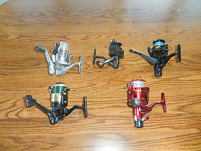 5 Spinning Fishing Reels South Bend Xenon Shakespeare Zebco Durango LX