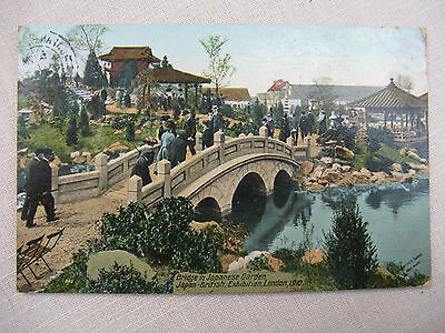 Postcard. Japan-British Exhibition, London. 1910. Posted from in the exhibition