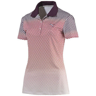 Puma W Chevron Fade Polo Damen Golf Dry Cell