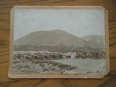 "Military Fort Outdoor Photo w/Cannons - Original 4 3/4"" x 6"""