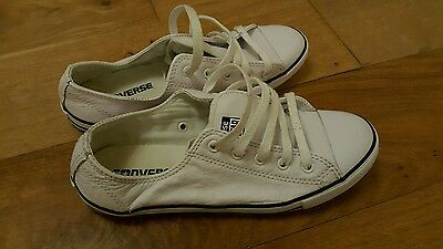 White leather converse size 5