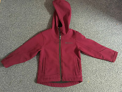 MOUNTAIN WAREHOUSE purple coat with hood age 3 - 4 years VGC