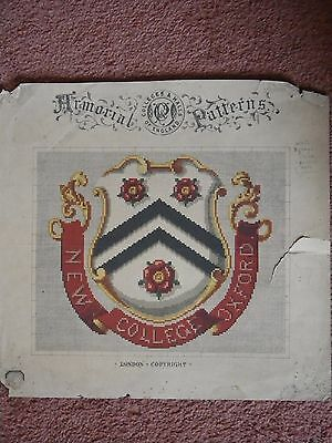 Vintage Armorial Patterns by Colleges & Halls of England – New College, Oxford