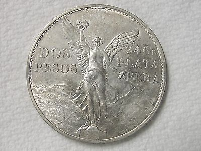 1921 Mexico 2 Peso Silver Coin 1 Year Type K# 462  * Key Date!!  *