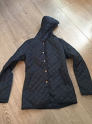Girls New Look Navy Quilted Coat 14-15yrs