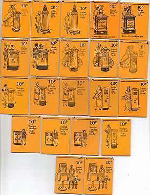 Pillar Box complete series, DN46 - 66, twenty one booklets, cat value £76.25