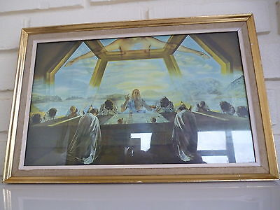 The Last Supper By Salvadore Dali Framed Print Vintage 1960's