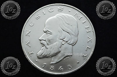"HUNGARY 20 FORINT 1948 "" Mihaly Tancsics REVOLUTION "" SILVER coin (KM# 539) XF+"