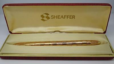 Vintage Gold Plated  Lady Sheaffer Fountain Pen With Original Box 1960's