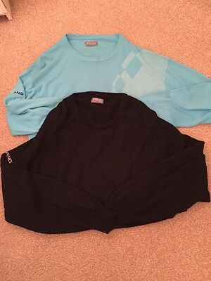 Men's Golf 'Ping' Jumpers Blue And Black Size XXL