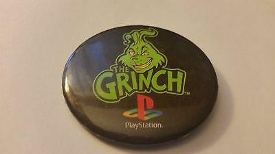 Playstation The Grinch Video Game 2000 Release Advertising Promotional Button