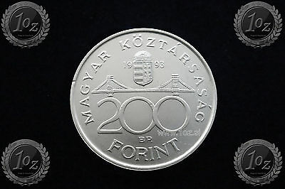 "HUNGARY 200 FORINT 1993 "" NATIONAL BANK "" SILVER Commem. coin (KM# 689) aUNC"