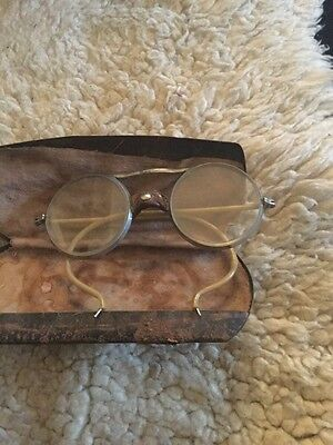 Rare 1920s Wilson Driving Car Goggles/ Glasses And  Carrying Case