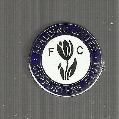 Spalding United Supporters Club  Enamel Badge Brooch Fixing