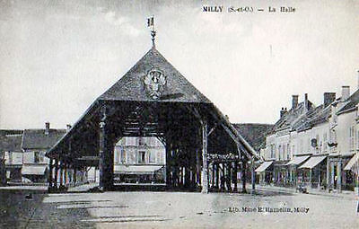 91  Cpa Debuts 1900-Milly-La Halle