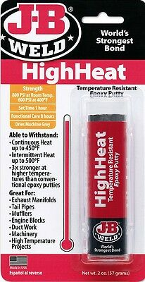 JB Weld 8297 High Heat Epoxy Putty Stick