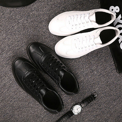 Men Black Or White Sports Shoes Casual Runing Gym School Trainers New Fashion