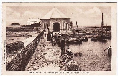 Cpa - 50 - Goury - Auderville --  Le Port --  Animee