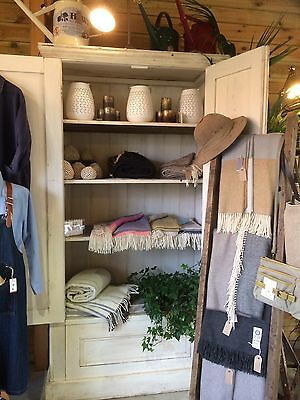 Painted Old Pine Cupboard/ Linen/ Shop Display-Collect Pulborough West Sussex