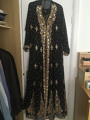 Indian Suit Uk Size 14/40 Black And Gold