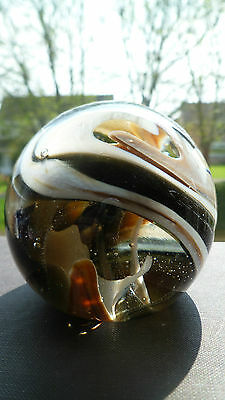 Vintage Mdina Art Glass Paperweight Labelled And Marked