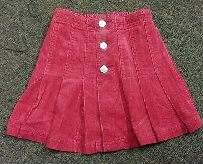 Girls Next Red Pleated Button Detail Skirt Age 3 Years