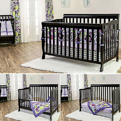 Dream On Me Baby 5 In 1 Crib Convertible Wood Bed Nursery Furniture New