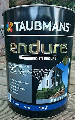 Save $44! 10L TAUBMANS ENDURE Exterior Wall Paint! Gloss & Low Sheen RP$155