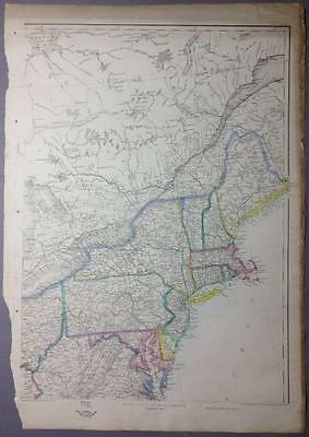Map of NE USA, Massachusetts, by Ettling for the Weekly Dispatch Atlas, 1856