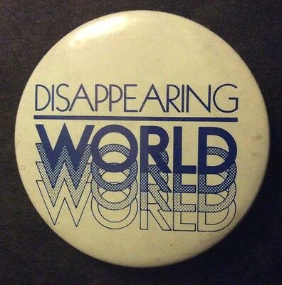 Disappearing World Granada Televsion Series pin badge