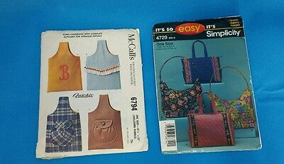 Handbag Purse Sewing Patterns McCall's Easy Simplicity English French Spanish