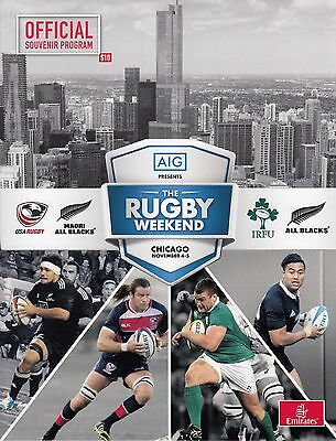 Ireland v New Zealand at Chicago programme and ticket