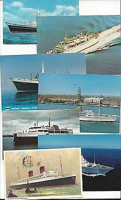 Ship Postcards from 1950s - 1970s Voyages