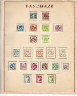 Denmark 1850s - 1870s Official Reprint Lot, VF Collection of 22 Different
