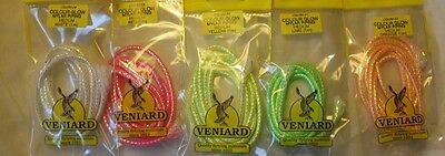 Veniard Colour Glow Mylar Piping luminous light activated braid for fly tying