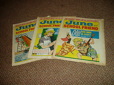 3 June And School Friend Comics May-Aug 1970 Save The Marina