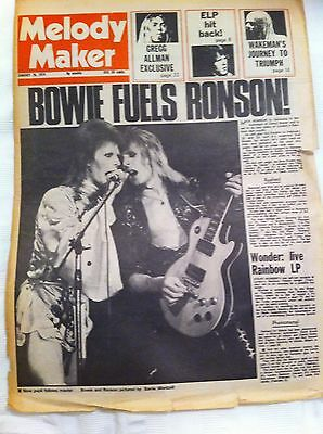 David Bowie - Mick Ronson - Melody Maker Cover January 1974