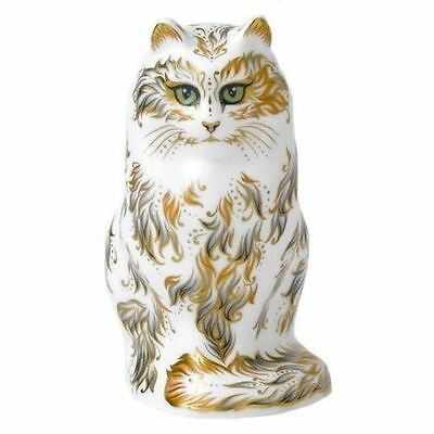 New Royal Crown Derby 2nd Quality Fifi the Cat Paperweight