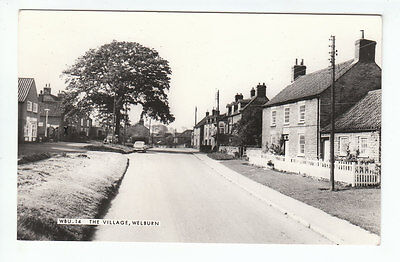 Welburn Village Yorkshire 1965 Ford Anglia Estate Austin A35 Real Photograph
